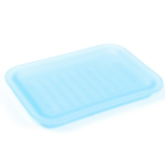 Soap Dish Sky Blue Frosted Glass Soap Holder Gedy 1011-S6