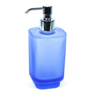 Soap Dispenser Light Blue Frosted Glass Soap Dispenser 1081-S1 Gedy 1081-S1