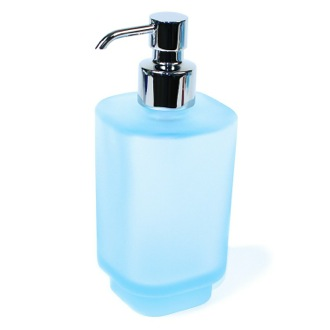 Soap Dispenser Frosted Glass Sky Blue Soap Dispenser 1081-S6 Gedy 1081-S6