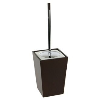 Toilet Brush Square Tanganika Wood Toilet Brush Holder 1533-31 Gedy 1533-31