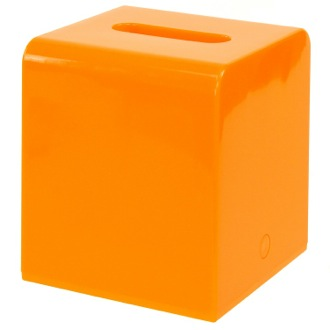 Square Orange Tissue Box Cover of Thermopl...