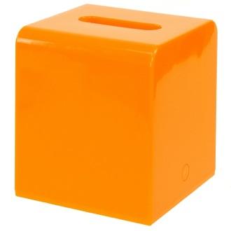 tissue box cover square orange tissue box cover of resins gedy