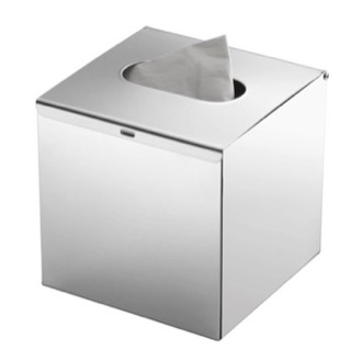Modern Square Polished Chrome Tissue Box Cover Gedy 2302 13
