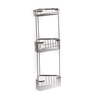Shower Basket Wire Corner Triple Shower Basket 2484 Gedy 2484