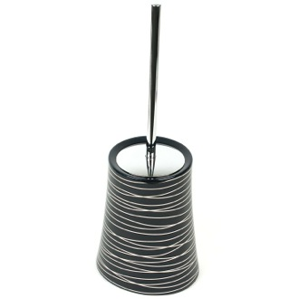 Toilet Brush Hourglass Shaped Anthracite and Silver Toilet Brush Holder 3933-57 Gedy 3933-57