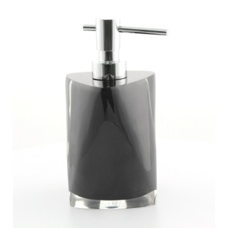 Soap Dispenser Black Round Countertop Soap Dispenser 4681-14 Gedy 4681-14