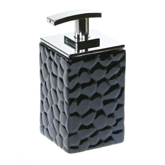 Soap Dispenser Square Soap Dispenser Made from Pottery in Blue Finish 4780-05 Gedy 4780-05