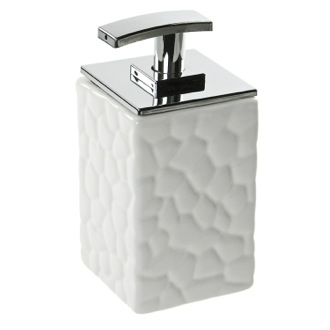 Soap Dispenser Square Soap Dispenser Made from Pottery Available in Three Finishes 4780 Gedy 4780