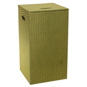 Gold Finish Laundry Hamper and Stool of Faux Hamper Gedy 6738-87