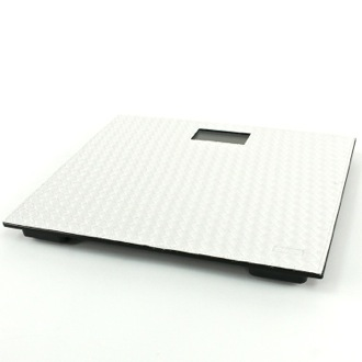 Square Pearl White Electronic Bathroom Scale Gedy 6790-42