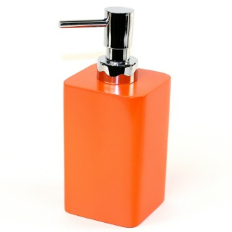 Soap Dispenser Square Orange Soap Dispenser Gedy 7981-67