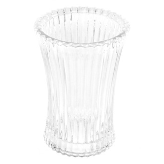 Toothbrush Holder Free Standing Round Tumbler in Glass Gedy 8998