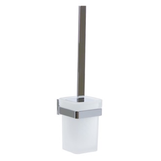 Toilet Brush Wall Mounted Chrome Toilet Brush Holder with Bristle Brush Gedy A033-03-13