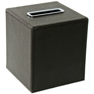 Tissue Box Cover Square Tissue Box Holder Made From Faux Leather Available in Multiple Finishes AC02 Gedy AC02