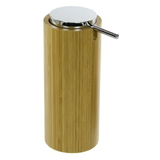 Soap Dispenser Round Free Standing Soap Dispenser in Natural Wood Finish Gedy AL80-35