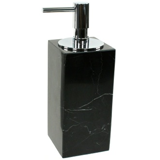 Black Marble Soap Dispenser with Chrome Pump Gedy AN81-14