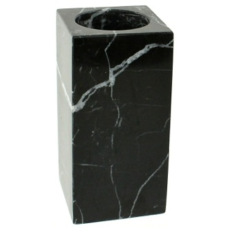 Black Marble Toothbrush Holder Gedy AN98-14