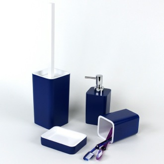 Bathroom Accessory Set 4 Piece Accessory Set of Thermoplastic Resins ARI100 Gedy ARI100