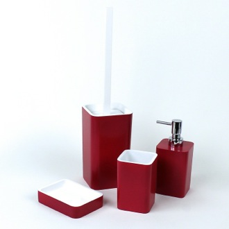 Ruby Red Accessory Set of Thermoplastic Resins Gedy ARI100-53