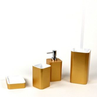 Bathroom Accessory Set 4 Piece Accessory Set of Thermoplastic Resins Gedy ARI100