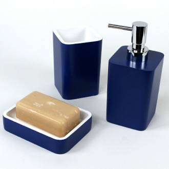Bathroom Accessory Set Modern 3 Piece Thermoplastic Resin Accessory Set ARI200 Gedy ARI200