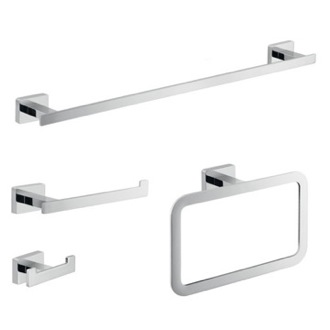 Wall Mounted Chrome Accessory Set Gedy ATN100