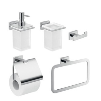 5 Piece Wall Hung Bathroom Accessory Set Gedy ATN110