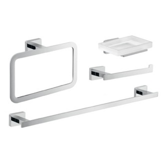 Chrome Bathroom Accessory Set Gedy ATN114