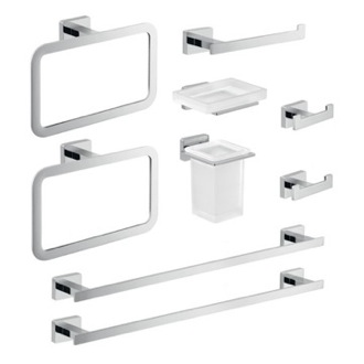 Nine Piece Chrome Accessory Set Gedy ATN115