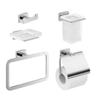 Wall Mounted Chrome Accessory Set Gedy ATN116