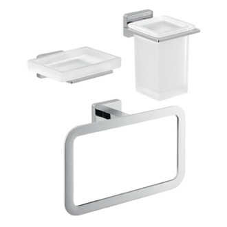 Three Piece Atena Bathroom Accessory Set Gedy ATN203