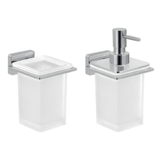 2 Piece Wall Mounted Bathroom Accessory Set Gedy ATN502