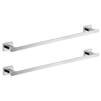 Wall Mounted Chrome Accessory Towel Bar Set Gedy ATN508