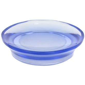 Round Soap Dish Made From Thermoplastic Resins in Blue Finish Gedy AU11-05
