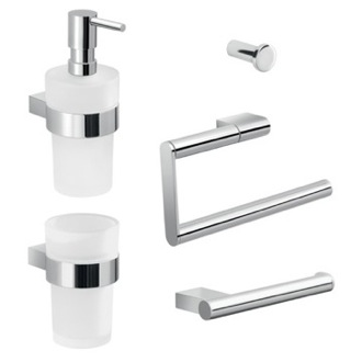 Wall Mounted Bathroom Hardware Set Gedy CAR103