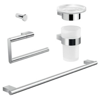 Complete Canarie Bathroom Accessory Set Gedy CAR105