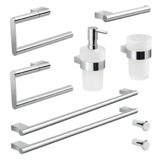 Wall Mounted Chrome Hardware Set Gedy CAR106