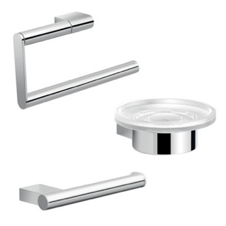Chrome Canarie Bathroom Accessory Set Gedy CAR200