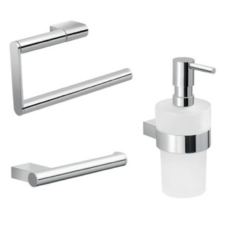 Three Piece Chrome Bathroom Accessory Set Gedy CAR201