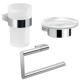 Three Piece Chrome Accessory Set Gedy CAR203