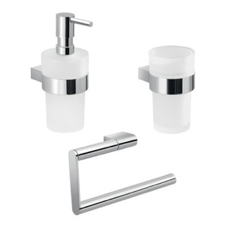 Wall Mounted Chrome Accessory Set Gedy CAR204