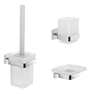 Modern Bathroom Accessories Set Gedy ELBA2100
