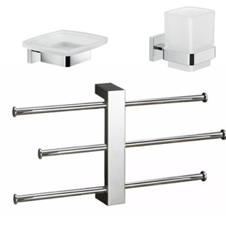Modern Bathroom Accessories Set Gedy ELBA2200