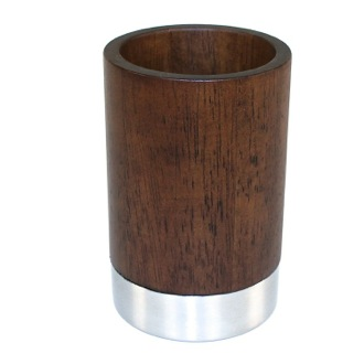 Toothbrush Holder Round Walnut Tumbler Gedy Er98 30