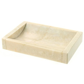 Soap Dish Rectangular Beige Soap Dish Made from Marble Gedy EU11-03
