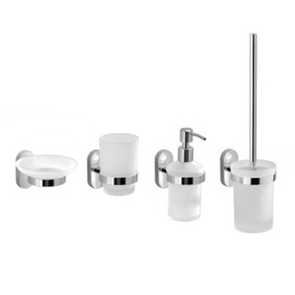Four Piece Wall Mounted Accessory Set Gedy FEBO100-13