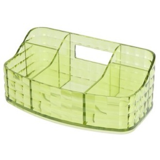 Make-up Tray Made From Thermoplastic Resin With Acid Green Finish Gedy GL00-04