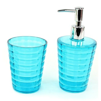 Exceptionnel Turquoise Toothbrush Holder And Soap Dispenser Accessory Set Gedy GL500 92