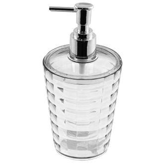 Round Transparent Soap Dispenser Gedy GL80-00