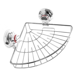 Suction Cup Chrome Single Basket Rounded Triangle Shower Basket Gedy HO80-13